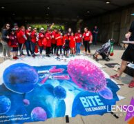 EMC Amgen BiTE chalk art ASCO online fundraiser Day One, Chicago, I